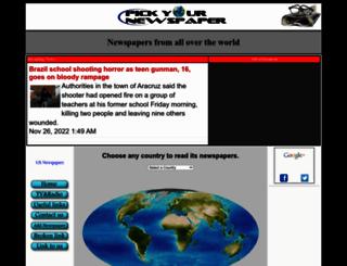 pickyournewspaper.com screenshot
