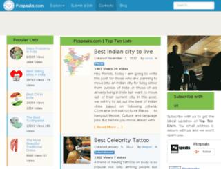 picspeaks.com screenshot