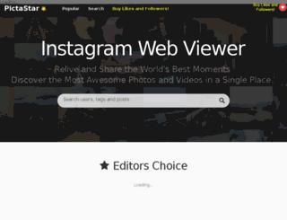 pictastar.com screenshot