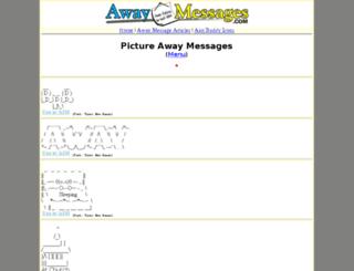 picture.awaymessages.com screenshot