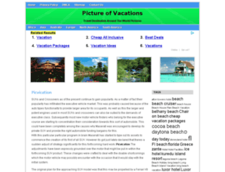picvacations.com screenshot