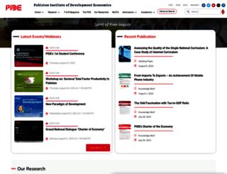 pide.org.pk screenshot