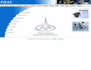 pieas-mail.pieas.edu.pk screenshot