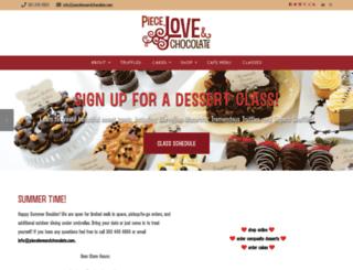 pieceloveandchocolate.com screenshot