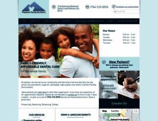 piedmontdental.com screenshot