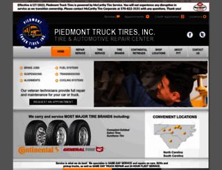 piedmonttrucktires.com screenshot