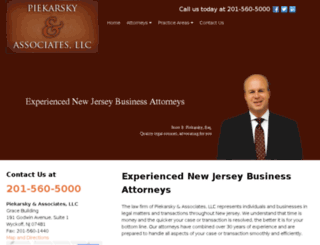 piekarsky-law.avvosites.com screenshot