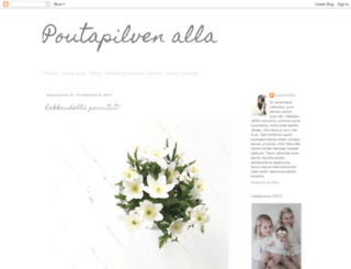 pienenpoutapilvenalla.blogspot.fi screenshot