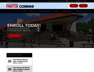 piercecollege.edu screenshot