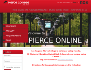 piercecollege.remote-learner.net screenshot