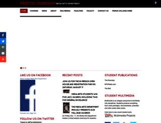 piercemediaarts.com screenshot