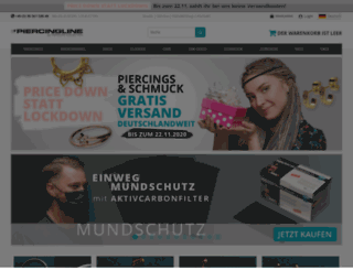 piercingline.de screenshot