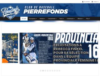 pierrefondsbaseball.com screenshot