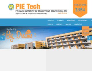 pietech.co.in screenshot