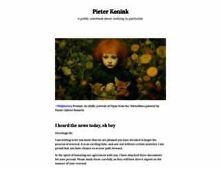 pieterkonink.com screenshot