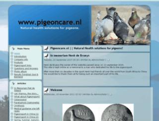 pigeoncare.nl screenshot