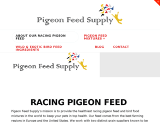 pigeonfeedsupply.com screenshot