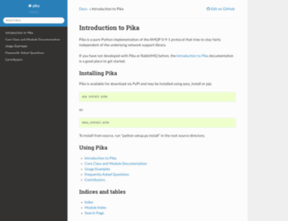 pika.readthedocs.org screenshot