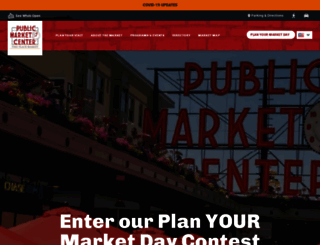 pikeplacemarket.org screenshot