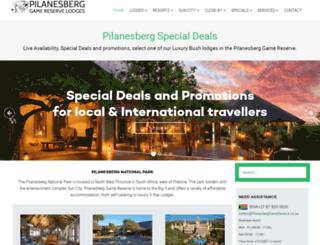 pilanesberggamereserve.co.za screenshot