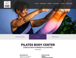 pilatesbodycenter.be screenshot