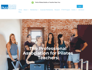 pilatesmethodalliance.org screenshot