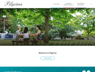 pilgrims.co.uk screenshot