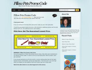 pillowpetspromocode.com screenshot