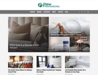pillowprofessional.com screenshot
