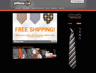pillowtie.com screenshot
