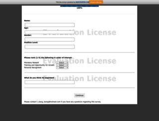 pilot.questionpro.com screenshot