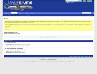 pilots.ualforums.com screenshot
