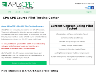 pilottest.apluscpe.com screenshot