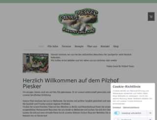 pilzhof-piesker.de screenshot