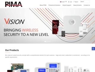 pima-alarms.com screenshot