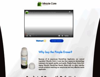 pimpleeraser.com screenshot