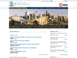 pims.math.ca screenshot
