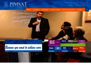 pimsat-khi.edu.pk screenshot
