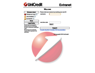 pin.extranet.unicredit.eu screenshot