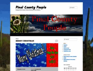pinalcountypeople.wordpress.com screenshot