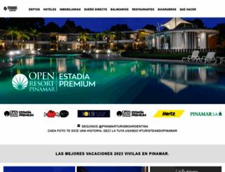 pinamarturismo.com.ar screenshot
