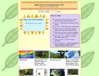 pinataisland.info screenshot