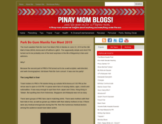 pinaymomblogs.com screenshot