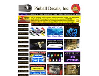 pinballdecals.com screenshot