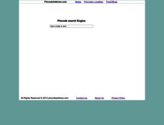 pincodeaddress.com screenshot