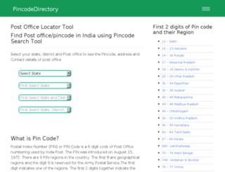 pincodedirectory.net screenshot