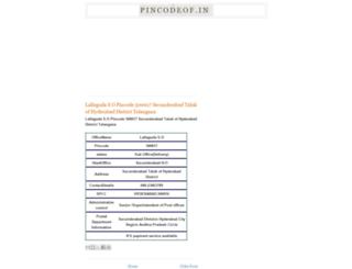 pincodeof.in screenshot