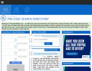 pincodeofindia.com screenshot