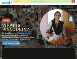 pincodetv.com screenshot