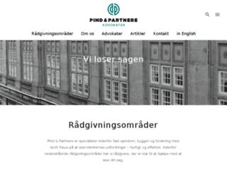 pindadvokatfirma.dk screenshot